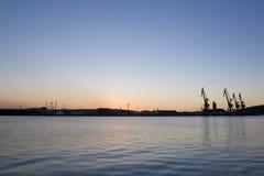 порт после полудня Стоковое Изображение RF