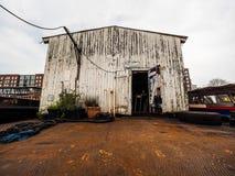 Порт полинянный в hdr Гамбурга Стоковое фото RF