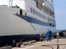 порт прибытия Стоковые Изображения