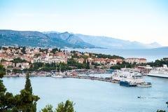 Порт причаленной шлюпки, Хорватии Стоковые Фото