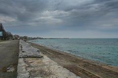 Порт, пляж в Feodosiya стоковое фото rf