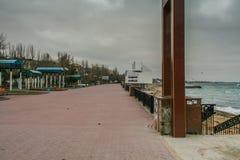 Порт, пляж в Feodosiya стоковое фото