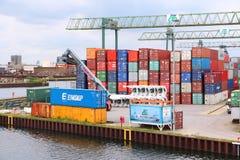 Порт реки Dortmund Стоковые Фотографии RF