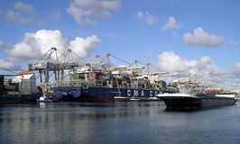 Порт Роттердама - Нидерландов Стоковое Фото