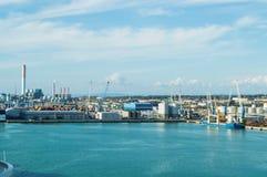 Порт столицы Civitavecchia-the Рима, важный порт груза для морского транспорта в Италии стоковые изображения rf
