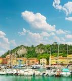 Порт славного, Франция, Провансаль, французская ривьера стоковые фото