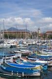 Порт славного, французская ривьера стоковое изображение