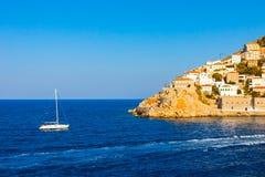 Порт шлюпки Sailing вводя Стоковые Изображения RF