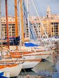 Порт яхты, марсель Стоковые Фото