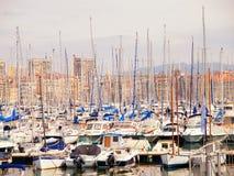 Порт яхты, марсель Стоковое Фото