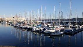 Порт яхты на Лиссабоне, Португалии Стоковое фото RF