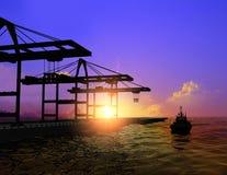 порт стоковая фотография rf