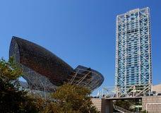 порт barcelona зодчества самомоднейший олимпийский Стоковые Фото