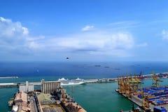 порт barcelona промышленный Стоковые Изображения RF