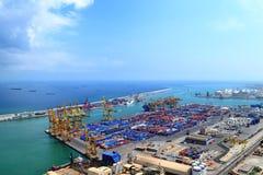 порт barcelona промышленный Стоковое Фото