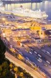 порт barcelona Стоковые Изображения