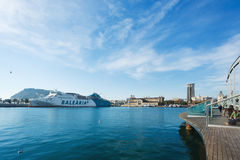 порт barcelona Стоковые Фото