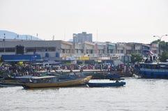 Порт Batu-Batu, Tawau Стоковое фото RF