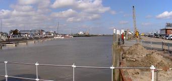 Порт Bensersiel, Германии 30 03 2010 Стоковое фото RF