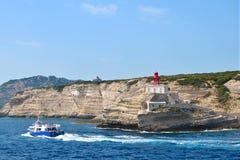 Порт Bonifacio, Корсики Стоковое Изображение RF