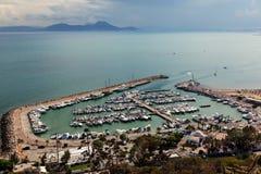 порт bu сказал sidi Тунис Стоковое Изображение