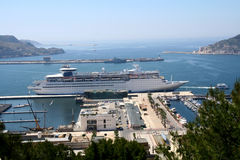 порт cartagena стоковая фотография