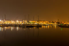 Порт Cityк ноча стоковое фото rf