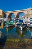 Порт des Auffes Vallon - марсель Франция Стоковое Изображение