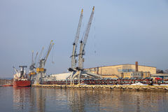 порт gdansk Польши стоковые фотографии rf