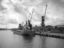 порт gdansk стоковое изображение