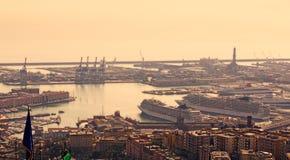 Порт Genoa, Италии стоковое фото rf