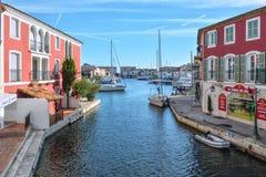 Порт Grimaud и свои каналы Стоковое Изображение RF