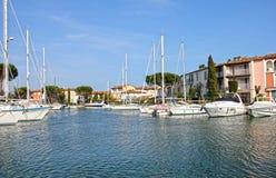 порт grimaud Франции Стоковое Изображение