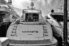 Порт Grimaud, яхты и архитектура Стоковые Фотографии RF