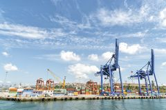 Порт Haydarpasa, Стамбула, Турции Стоковые Изображения