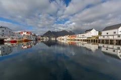 Порт Henningsvaer на Lofoten Стоковые Фотографии RF