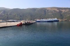 Порт Igoumenitsa - Греции Стоковое фото RF