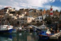 порт jaffo старый стоковое изображение