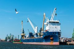 Порт Klaipeda на Литве Стоковые Фото