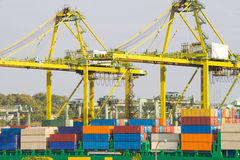 Порт Klang залива Сингапура, Стоковое фото RF
