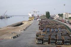 Порт Leixoes промышленный на Порту Стоковая Фотография
