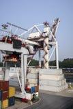 Порт Leixoes промышленный на Порту Стоковые Изображения RF
