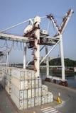 Порт Leixoes промышленный на Порту Стоковые Фото