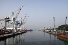 Порт Leixoes промышленный на Порту Стоковое Изображение
