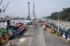 Порт Leixoes промышленный на Порту Стоковые Фотографии RF