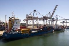 Порт Leixoes промышленный на Порту Стоковые Изображения