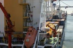 Порт Leixoes промышленный на Порту Стоковое фото RF