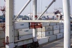 Порт Leixoes промышленный на Порту Стоковое Фото