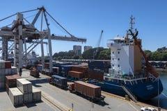 Порт Leixoes промышленный на Порту Стоковое Изображение RF