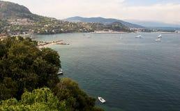 Порт mer sur theoule в Франции стоковые изображения rf